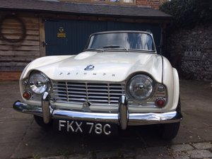 1965 TRIUMPH TR4 – UK RHD same owner for 50 years For Sale