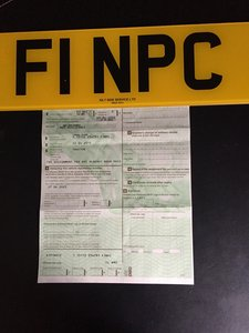 F1 NPC personalised number plate