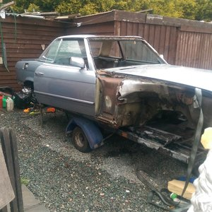 1981 280sl project manual unfinished runs For Sale