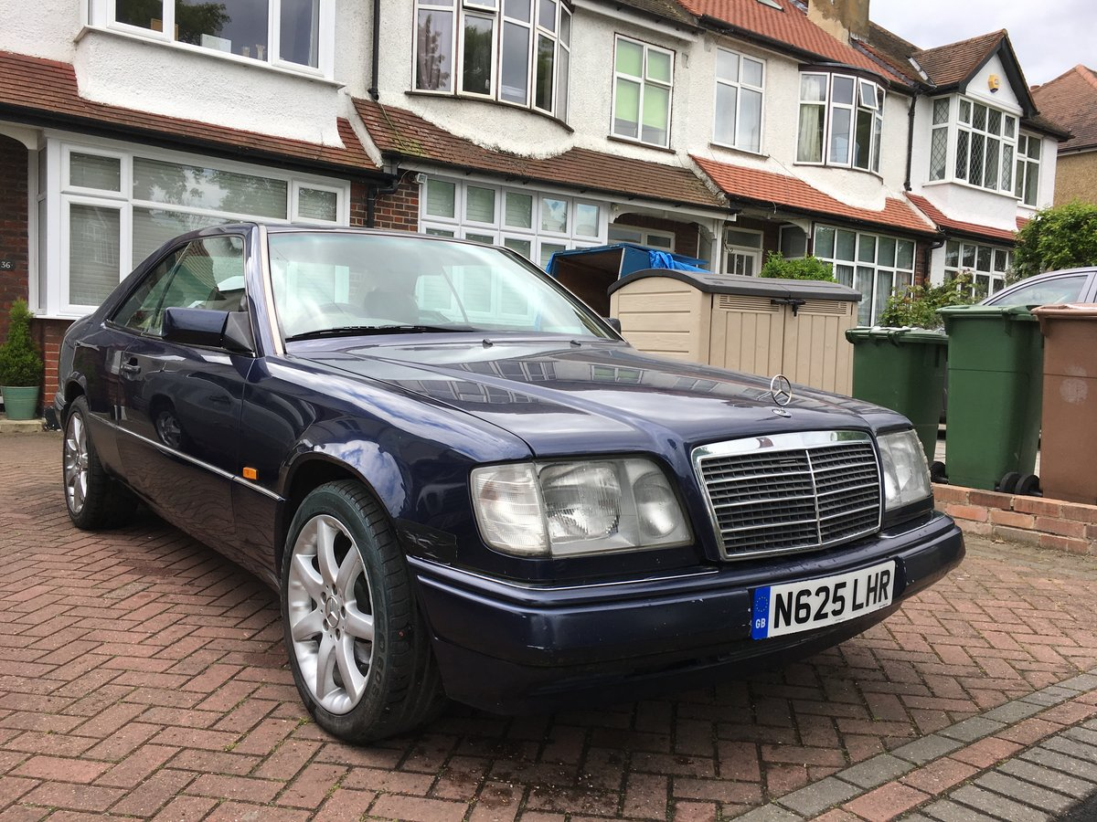 1996 Mercedes E220 COUPE, full MOT, needs tidying up For Sale (picture 1 of 6)
