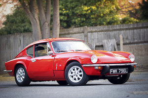 Triumph GT6 Mk3 with Overdrive. 1973. Pimento Red