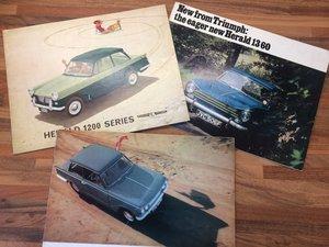 Triumph Herald 1200/1360/Vitesse 2 litre brochures