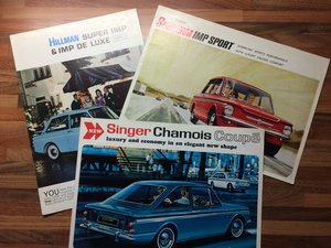 Singer Chamois, Hillman, Sunbeam Imp For Sale