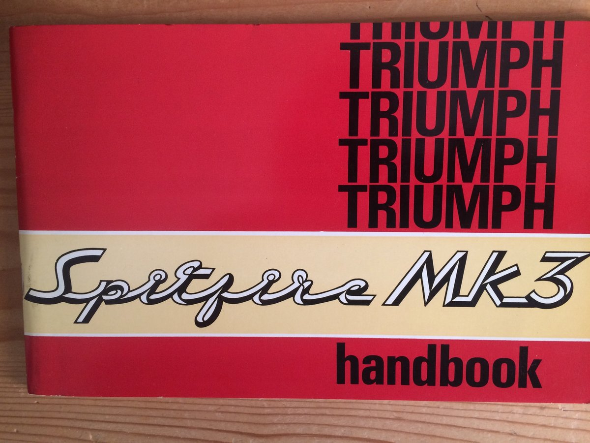 Triumph Spitfire Mk3 owners handbook. SOLD (picture 1 of 1)