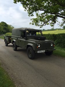 1983 Landrover Defender 110 Tithonus & Bradley Trailer