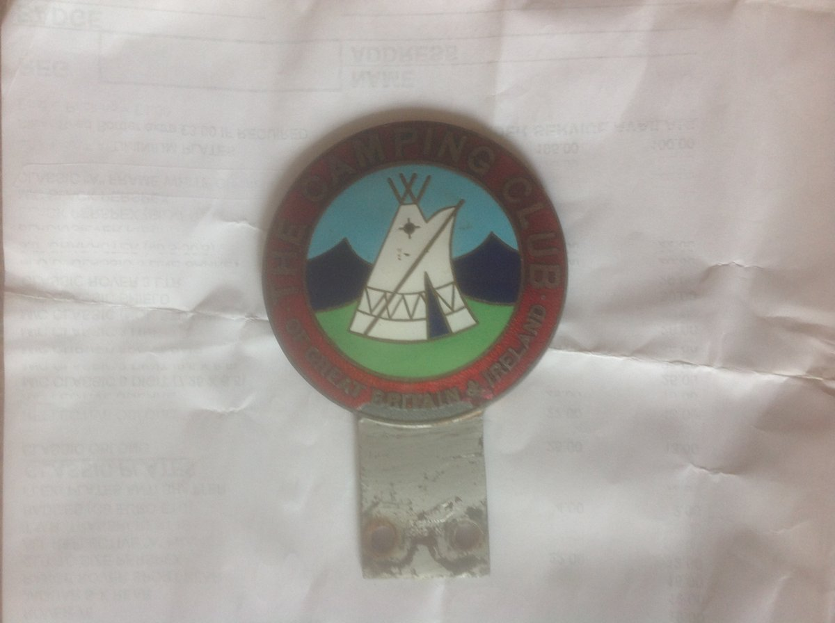 1969 Caravan and camping badge. Make GAUNT. For Sale (picture 1 of 2)