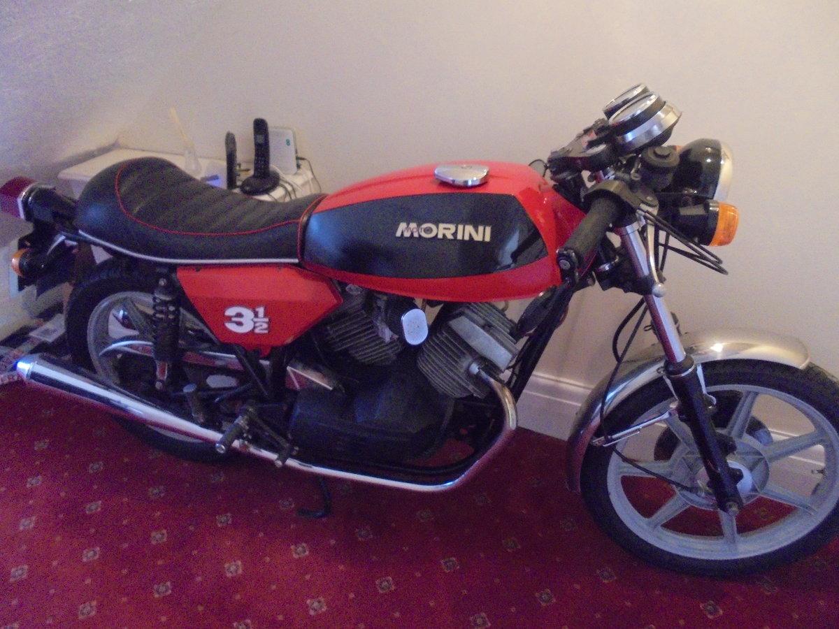 1980 MOTO MORINI 3 AND A HALF SPORT MINT BIKE For Sale (picture 1 of 5)