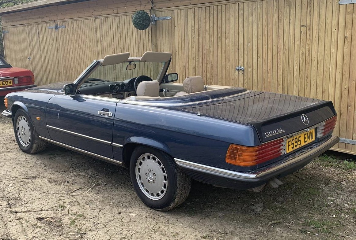 Mercedes 500sl facelift r107 1988 For Sale (picture 3 of 4)