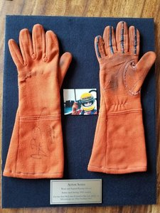 Picture of 1983 Ayrton Senna da Silva race used gloves signed For Sale