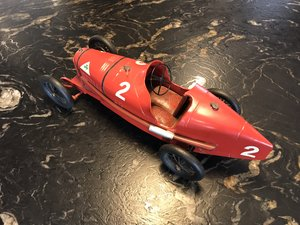 1924 Alfa Romeo P2 Tinplate Toy by CIJ For Sale