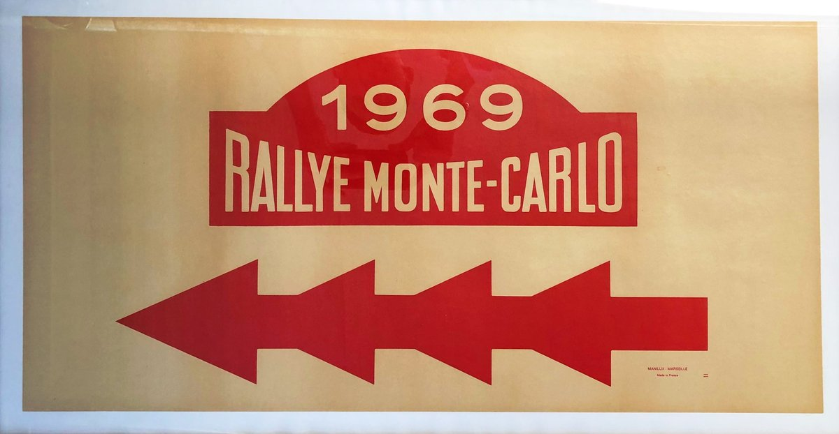 1969 Rallye Monte-Carlo Direction Poster For Sale (picture 1 of 1)