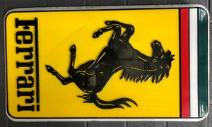 A rare Ferrari plexiglass single sided sign For Sale