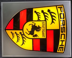 An original large Porsche dealer sign For Sale