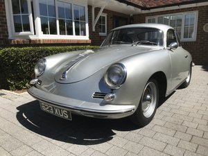 PORSCHE 356B 1959 COUPE SILVER For Sale