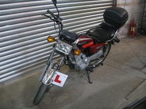 Yamasaki YM125-3 2012 124cc Red Petrol Motorcycle
