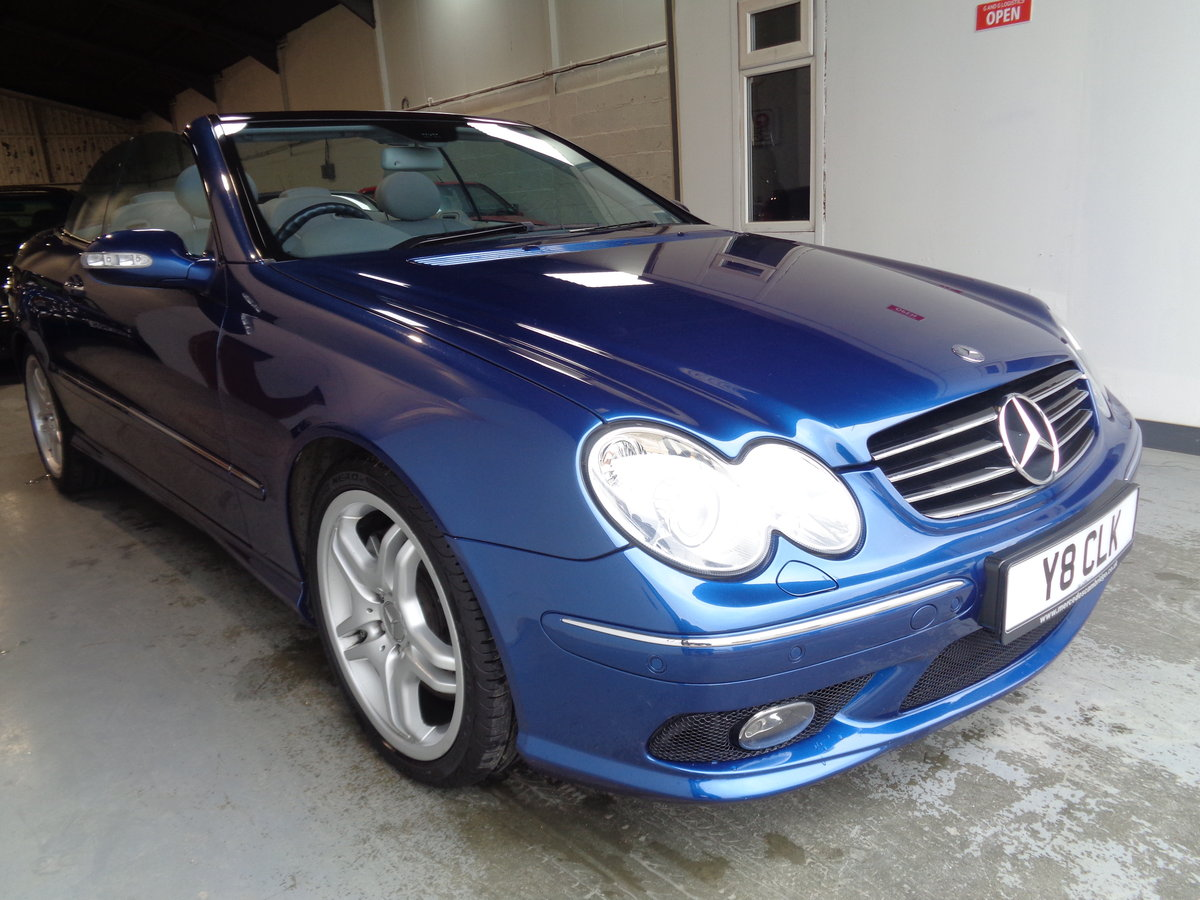 2003 Clk 55 amg convertible - 41k fmbsh - lovely !! For Sale (picture 1 of 6)