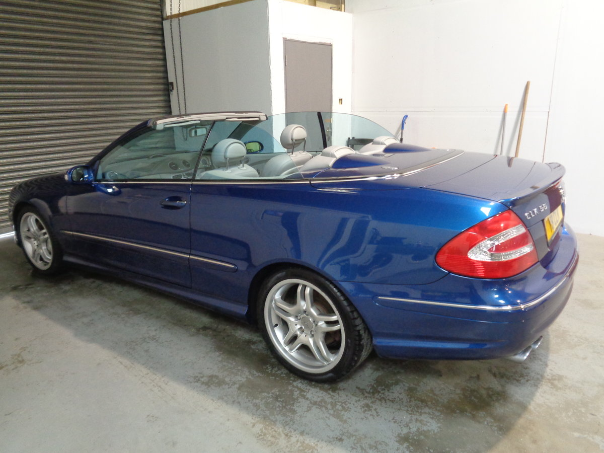 2003 Clk 55 amg convertible - 41k fmbsh - lovely !! For Sale (picture 3 of 6)