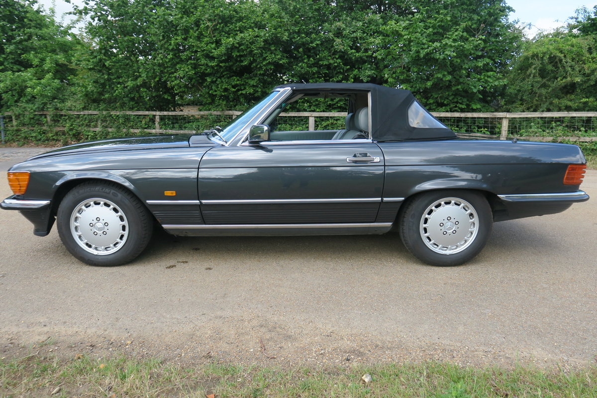 1988 Mercedes 300 SL300 R107 Blue Black FMSH 96k For Sale (picture 5 of 6)
