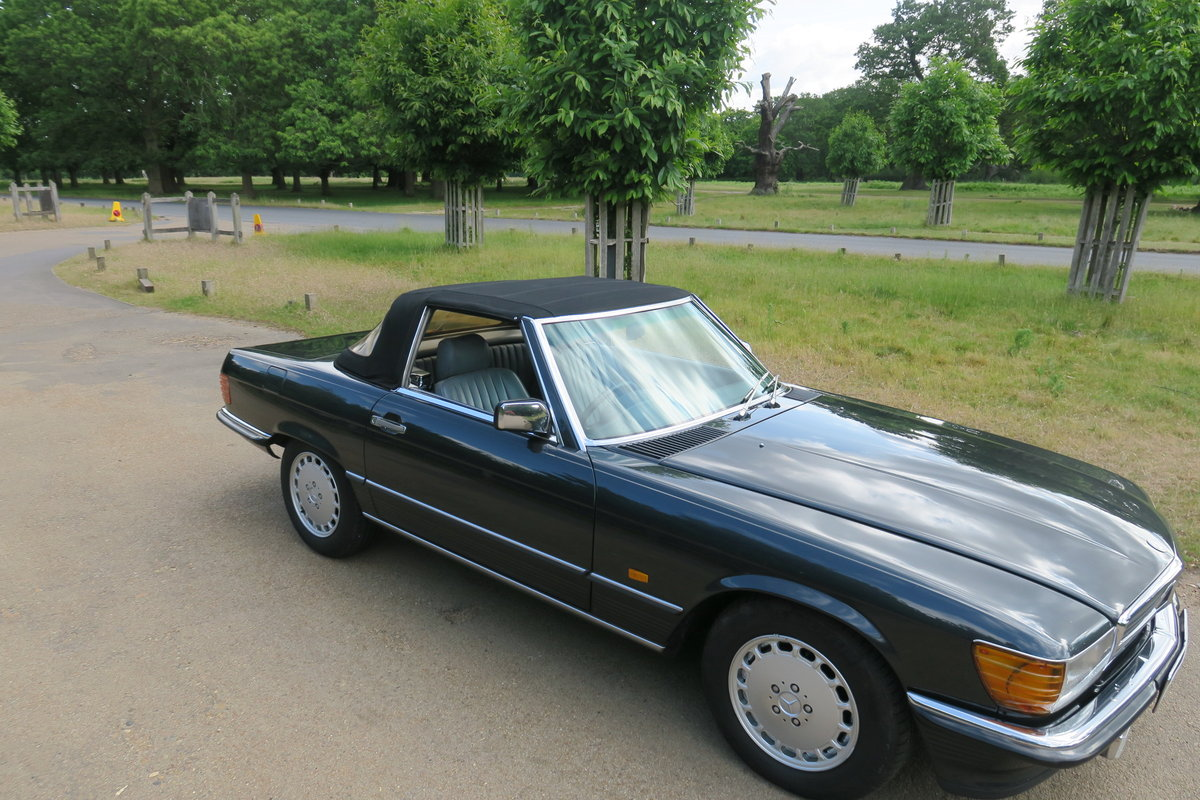 1988 Mercedes 300 SL300 R107 Blue Black FMSH 96k For Sale (picture 6 of 6)