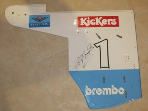 1995 Michael Schumacher Benetton end plate For Sale