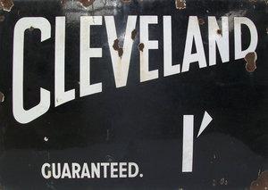 large cleveland oil enamel sign