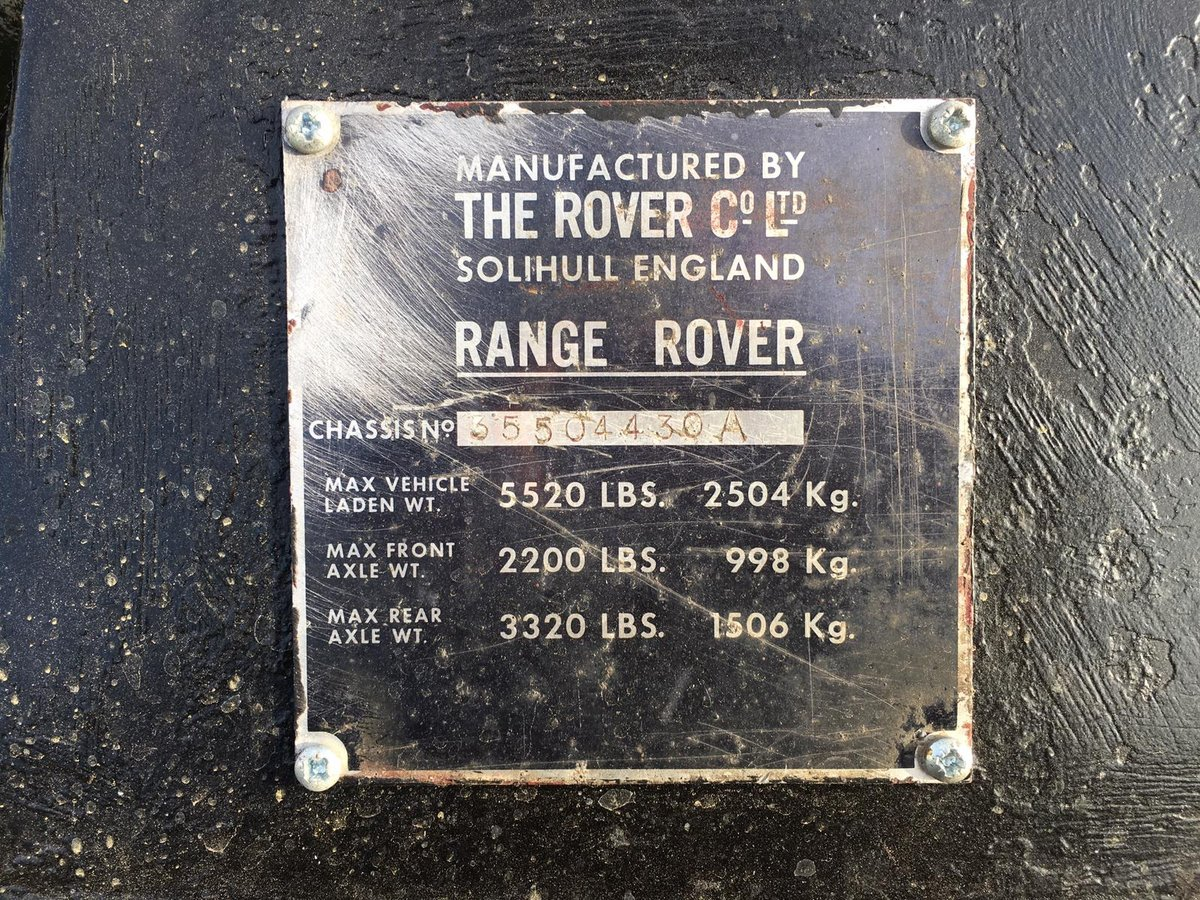 Range Rover Classic 1972 Suffix A 300 tdi For Sale (picture 6 of 6)