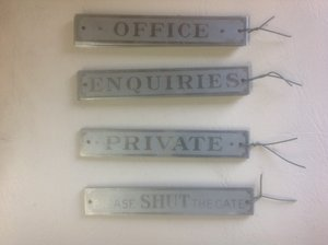 Garage workshop door signs. For Sale