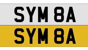 SYM8A number plate For Sale