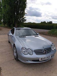 2003 Mercedes SL 350 Panoramic glass Roof and Distronic
