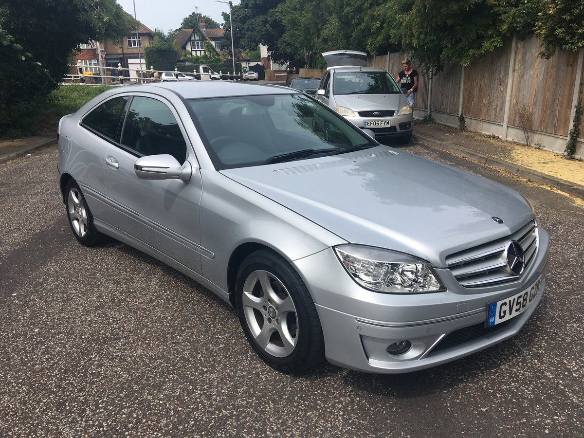 2008 58 mercedes clc 1.8k se auto coupel 81k hpi clear For Sale (picture 1 of 6)
