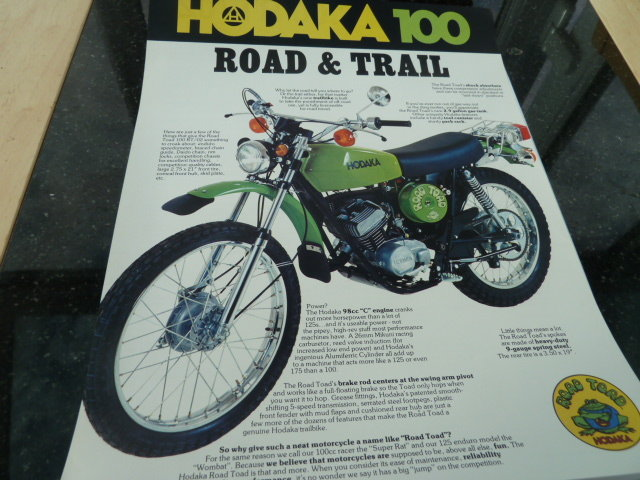 1975 HODAKA  :- ROAD TOAD SOLD (picture 3 of 6)