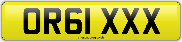 Reg no - OR61 XXX For Sale