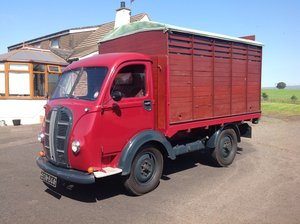 1951 Austin K8 flatbed truck with Caravanette body