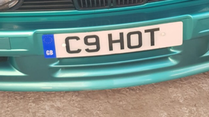 C9 HOT Number plate on retention For Sale