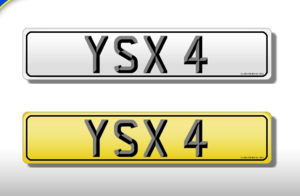 YSX 4 Dateless 4 digit 3x1 Cherished Registration  For Sale