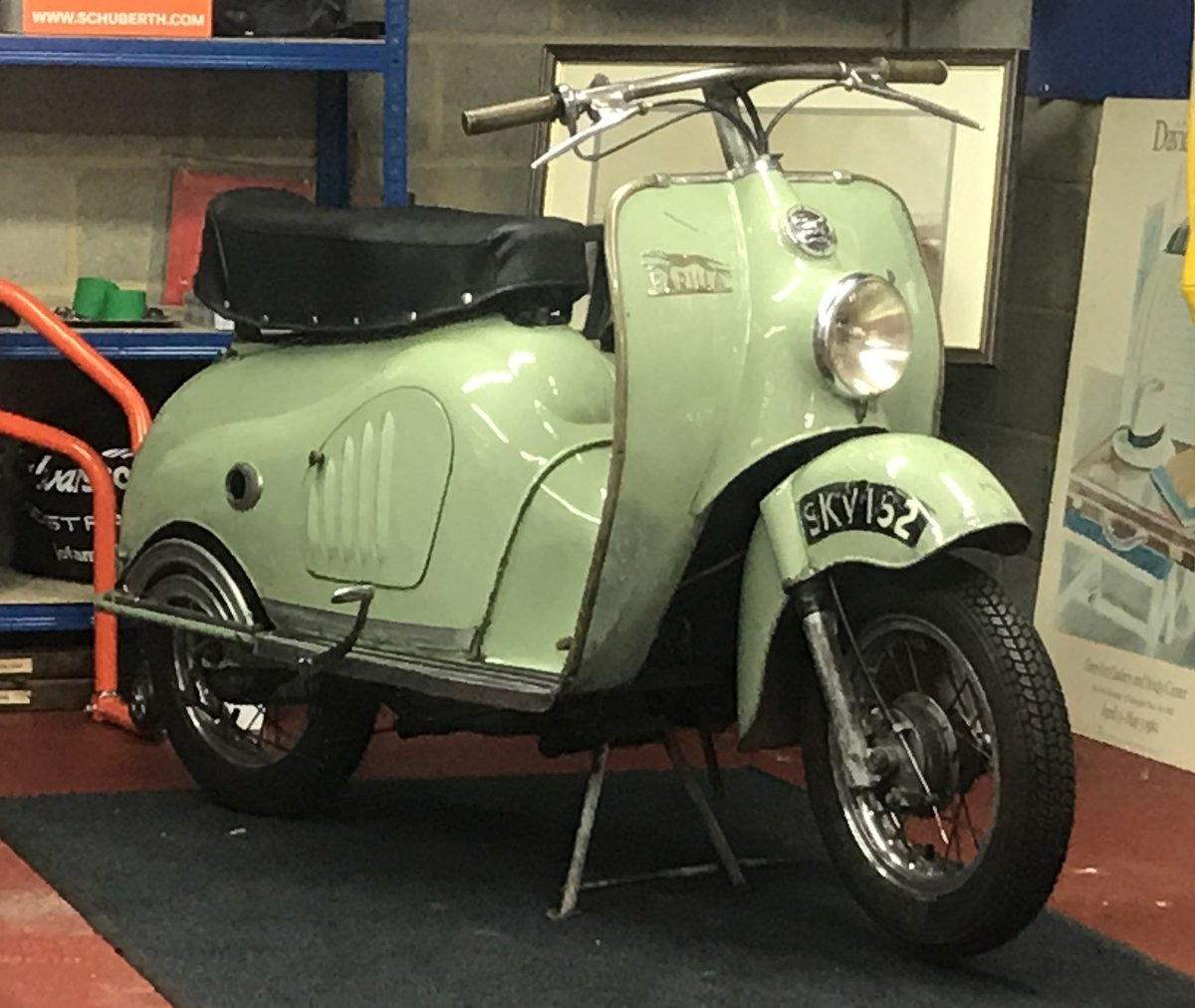 1956 MOTO PARILLA LEVRIERE (GREYHOUND) SCOOTER For Sale (picture 6 of 6)