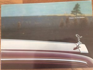 Rolls Royce Silver Shadow II brochure. For Sale