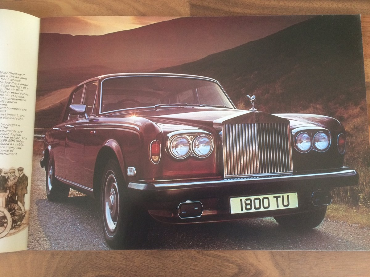 Rolls Royce Silver Shadow II brochure. For Sale (picture 2 of 6)