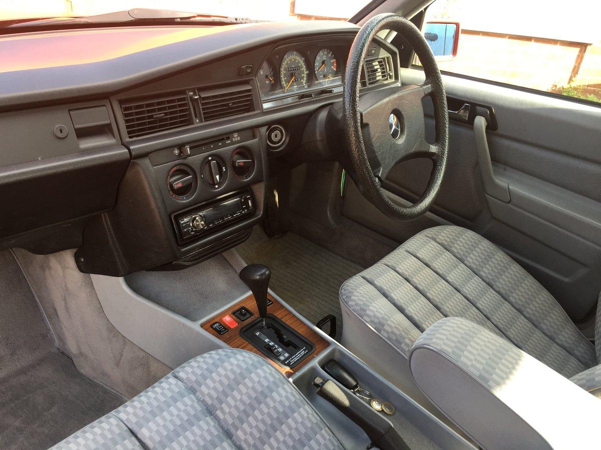 1991 Mercedes 190E 1.8 Auto H-reg  For Sale (picture 2 of 6)