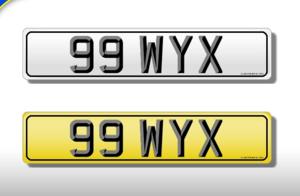 99 WYX Dateless 5 digit 2x3 Cherished Registration For Sale