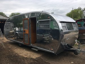 1950 Rare aluminium trailer, like Airstream For Sale