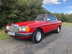 1982 Mercedes W123 230CE coupe only 61000 miles For Sale