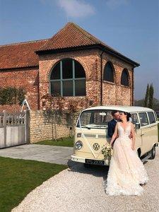 VW bay window camper van - Stunning wedding car