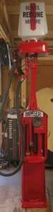 1920 Bowser petrol pump just restored 's