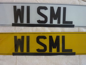 W1 SML number plate For Sale