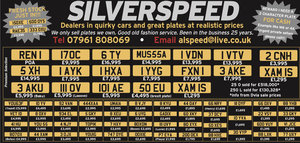 Amazing selection of valuable number plates at bargain price