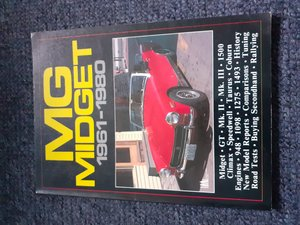 mg midget brooklands book For Sale