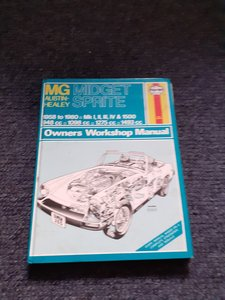 Haynes MG midget workshop manual  free collect
