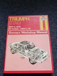 Haynes triumph stag book