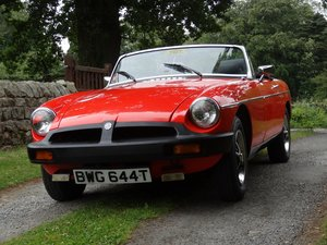 1979 MGB Roadster in beautiful condition. Low mile For Sale
